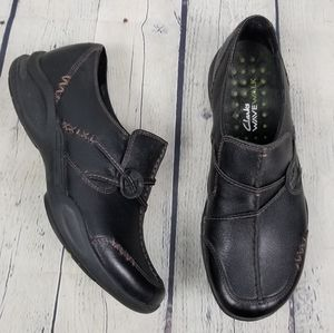 CLARKS | Wave Walk leather slip-on shoes